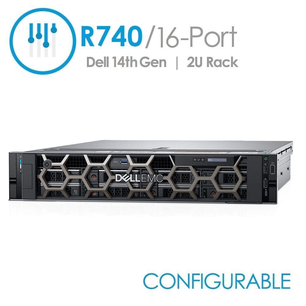 Dell PowerEdge R740 16-Port with 1 Year STI Warranty (Configurable)