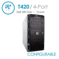 Dell PowerEdge T420 4-Port Desktop Tower Server with Fixed Power Supply (Configurable)